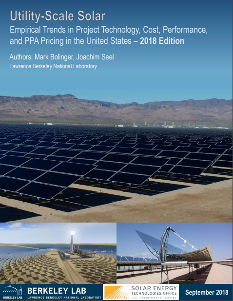 Utility-Scale Solar | Electricity Markets and Policy Group