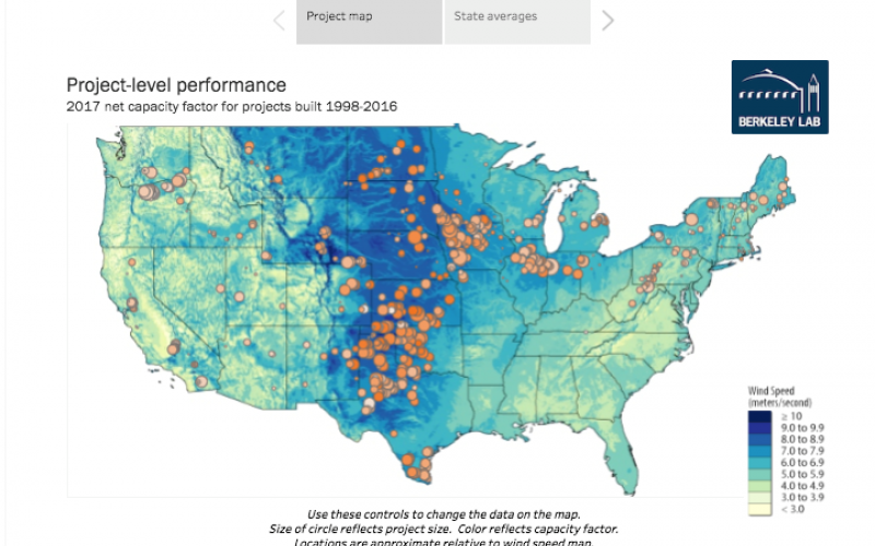 Data Visualizations Enable Exploration Of Key U S Wind Power Trends